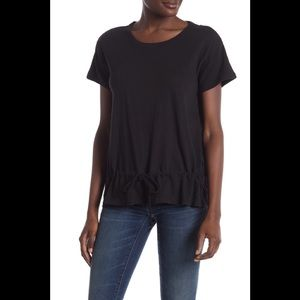 Madewell Drawstring Tee True Black - S